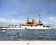 USS Illinois was a pre-dreadnought battleship built for the United States Navy. States In Usa, United States Navy, Naval History, Military History, World Of Warships, Us Battleships, Imperial Japanese Navy, Canadian Army, Us Navy Ships