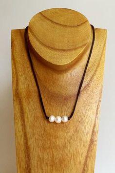 """Triple Scoop Knot"" Freshwater Pearl Necklace - Klara Haloho - 1"