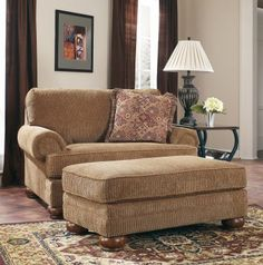 Richland Amber Chair and Half  Ottoman $260   ** First choice for ME