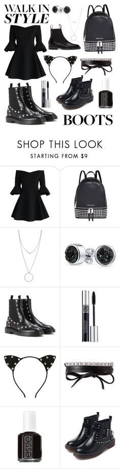 """""""Studded Chelsea boots"""" by vintagedaisy1 ❤ liked on Polyvore featuring Chicwish, Michael Kors, Botkier, Bling Jewelry, Balenciaga, Christian Dior, Fallon, Essie, WithChic and Valentino"""
