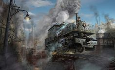 sky train by Lincoln Renall | Fantasy | 2D | CGSociety