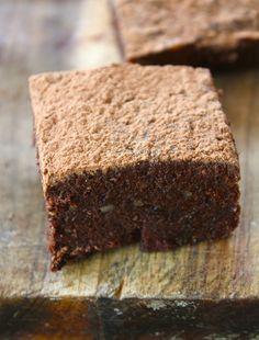 Tea Infused Raw Chocolate Brownies (vegan, gluten free and sugar free)