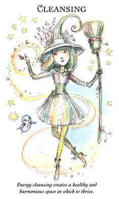 """☆ Witchling: Cleansing """"Energy cleansing creates a healthy and harmonious space in which to thrive."""" -:☀:- Artist Paulina Cassidy ☆"""