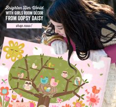 Brighten Her World with Girls Room Decor from Oopsy Daisy