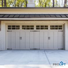 A two-to-one garage door conversion? Yes it can be done and here's what you need to know... | Converting Two Single Garage Doors To One Double Door by ProLift Garage Doors Blog Garage Door Cost, Garage Door Maintenance, Single Garage Door, Garage Door Windows, Garage Door Styles, Garage Door Makeover, Garage Door Design, Garage Door Opener, Garage House