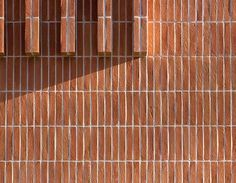 Our beautiful Charnwood i-Line linear brick on show at the East Ham Civic Centre London designed by Rick Mather Architects