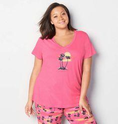 d6aabe7de7 Elect Lady · Nightwear for plus size Ladies · Avenue Sunset Palm Sleep Top  Nightwear