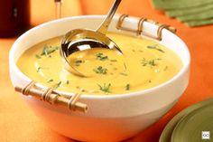 Sopa de abóbora e gorgonzola