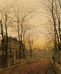 An Autumn Idyll, by John Atkinson Grimshaw