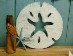The Dancing Starfish In The Sand Dollar in Weathered White Wall Decor