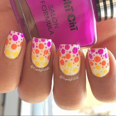 Polka dot gradient mani ===== Check out my Etsy store for some nail art supplies https://www.etsy.com/shop/LaPalomaBoutique