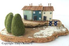 Case di Driftwood, Driftwood Cottage, riciclato arte, Home Decor, ornamento, Driftwood, regalo di Natale, arte popolare