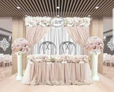 Super Wedding Ideas Table Decorations Draping 26 Ideas - All About Decoration Simple Wedding Decorations, Wedding Themes, Wedding Centerpieces, Table Decorations, Wedding Ideas, Tall Centerpiece, Wedding Reception Backdrop, Wedding Stage, Table Wedding
