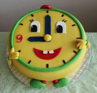 Dětský dort Hodiny- Budík | Dětské dorty fotogalerie | Restaurace Bobová dráha…