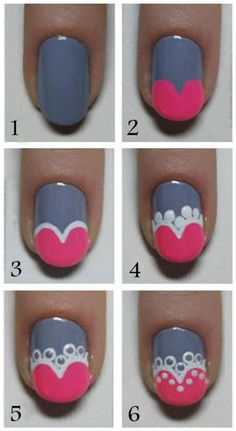 Cute Nail Art Tutorial - Head over to Pampadour.com for more fun and cute #nail art designs