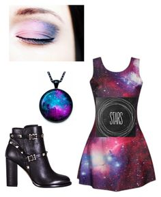 """""""Galaxy"""" by agaogludilara on Polyvore featuring Valentino, women's clothing, women's fashion, women, female, woman, misses and juniors"""