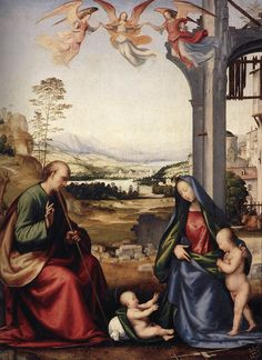 Fra Bartolomeo, The Holy Family with St. John the Baptist, 1506-07