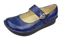 "Alegria Shoes Paloma PRO ""Navy Fleur"" Mary Jane at Alegria Shoe Shop"