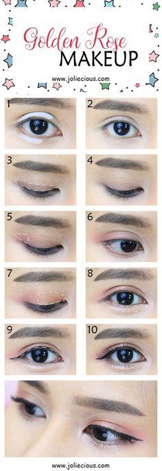 Golden Rose Makeup Tutorial – Joliecious Simple and quick makeup tutorial for beginners #Eyemakeup