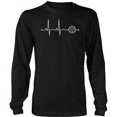 Men's Volleyball Heartbeat Long Sleeve T-Shirt - Sports Gift