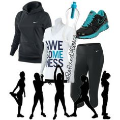 nike workout clothes for women | Nike Women's Performance Fleece Hoodie - Polyvore