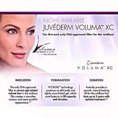 Now available Juvederm Voluma XC #injectables #voluma #juvederm