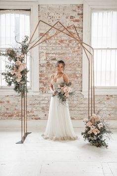There is something stunning about an industrial setting meeting wedding beauty. The juxtaposition of raw brick, of beaten floors, of light-filled windows against beautiful, lush blooms, soft floaty gowns and all the glamour and sparkle of a wedding. I mean – what's not to love? Today's dream team created industrial wedding magic in beautiful Perth, at the stunning space of White Space Studio Gallery adding beautiful blush pink, and neutral grey to the palette for something romantic, but that… Industrial Wedding Inspiration, What Is The Date, White Space, Wedding Beauty, Blush Pink, Bloom, Romantic, Glamour, Gowns