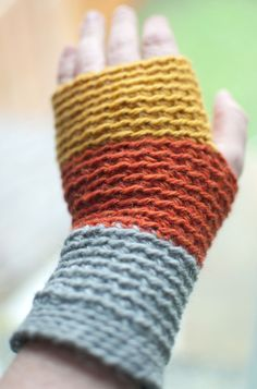 Crochet Wristwarmers / Fingerless gloves. £22.00, via Etsy.