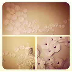 Coffee filters and push pins, diy wall art!