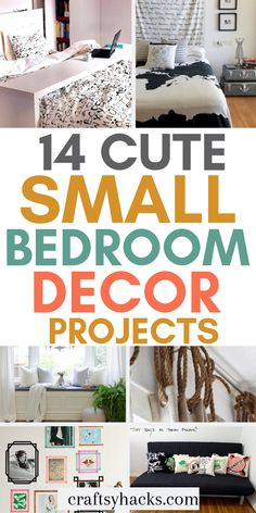 14 Bedroom Decor Projects for a Small Budget Try these small bedroom decor projects and decorate home with these great ideas. Try these DIY projects and have fun decorating. Bedroom Ideas For Small Rooms Diy, Diy Home Decor Bedroom, Small Room Bedroom, Cheap Bedroom Makeover, Small Apartment Decorating, Interior Decorating, Small Furniture, Interior Design Tips, Cheap Home Decor