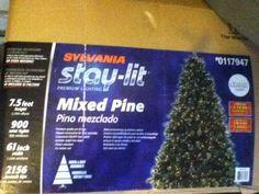 7.5 ft prelit christmas tree