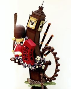 chocolate showpiece May 2017 Chocolate Work, Chocolate Dreams, Chocolate Fondant, Chocolate Cups, Chocolate Factory, Chocolate Gifts, Chocolate Lovers, Chocolate Cookies, Chocolate Recipes