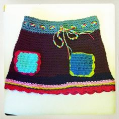 Gehaakt Rokje Vuur Meisjes Crochetknit Pinterest Haken And