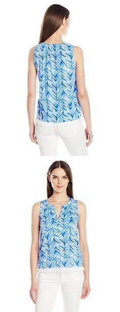 Lilly Pulitzer Women's Kipper Top, Lapis Bluerd :Costa Verde, XL