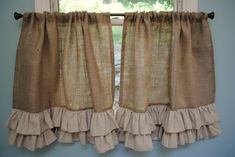 Burlap Kitchen No Sew And Sew On Pinterest