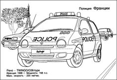 Marked police cars coloring pages planes trains for Matchbox cars coloring pages