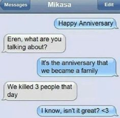funny attack on titan texting - Google Search