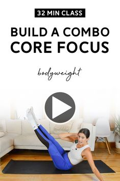 Build a Combo Class (32 Mins) - Core Focus Workout, Bodyweight | In Build a Combo classes, you gradually build a sequence of exercises. In this core focus workout, no equipment is needed. Video up on YouTube! #workoutclass #coreworkout #workoutvideo #youtubeworkout #youtube Hiit Workout Videos, Youtube Workout, Fun Workouts, At Home Workouts, Workout Bodyweight, Workout Classes, Exercise Routines, Plank Workout, Mom Workout