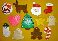 salt dough ornaments using cookie cutters for kids! Bring on the kid made Christmas tree :)