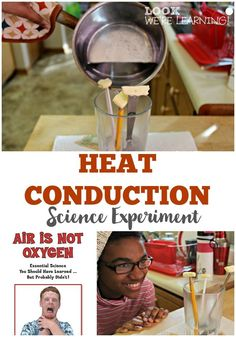 Help kids learn how heat conduction works with this super easy science experiment! Super Simple Heat Conduction Experiment for Kids – So fun to try! 4th Grade Science, Middle School Science, Elementary Science, Science Classroom, Teaching Science, Science Education, Science For Kids, Earth Science, Classroom Ideas