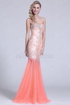 Trägerlos Süß Herz Prom Kleid mit Kristall Details (C36151010) #edressit #kleid #dress #perlen #beadings #abendkleid #eveningdress #fashion #promdress