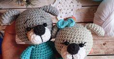 Вязаные собачки амигуруми от Елены Хохловой. Схема вязания игрушек крючком.