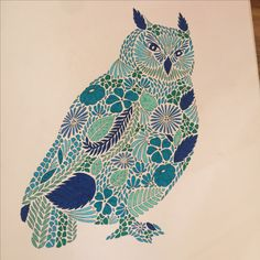 Colouring From My Animal Kingdom Book Milliemarotta Animalkingdom Animalkingdomcolouringbook Owl