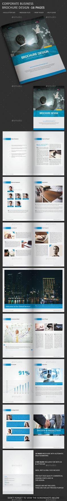 Corporate BiFold Brochures Template   Brochure Template