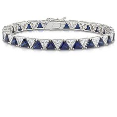 Largo Trillion Cubic Zirconia Tennis Bracelet