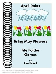 April Rains bring May Flowers File Folder Games