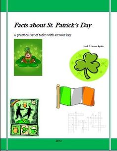 This is a factual e-book written to provide students with information related to the origins, some of the customs, traditions and symbols of St. Patricks Day in a very simple format to help your students understand why this holiday is so important for many people all over the world.This book offers challenging and enjoyable tasks in which students have to compare, analyze and choose the right information contained in each task.