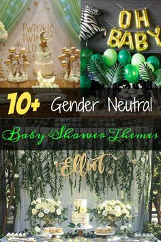 gender neutral baby shower themes you don't want to pass up! Links to gu… gender neutral baby shower themes you don't want to pass up! Links to guest book ideas, decorations, food, and more. Baby Shower Unisex, Décoration Baby Shower, Boy Baby Shower Themes, Gender Neutral Baby Shower, Baby Shower Parties, Baby Shower Gifts, Baby Showers, Baby Gender, Baby Shower Book Theme