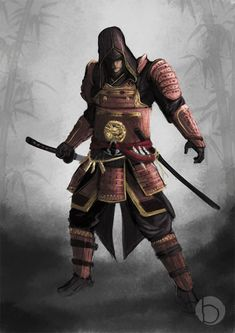 Assassin's Creed 4 is going to be released this or next year, but we don't know its setting. In Assassin's Creed 4 art we decided to dream about 3d Fantasy, Fantasy Warrior, Medieval Fantasy, Fantasy Samurai, Character Inspiration, Character Art, Character Design, Character Creation, Ninja Assassin