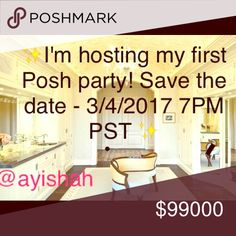 🌟🎉GET READY TO PARTY! I was selected to host a Posh party on Monday 4/3 at 7:00 PM PST. Follow me and like this listing to be reminded of this party. Leave your closet names so I can check out your closet for potential host picks! 🌟 Free People Accessories